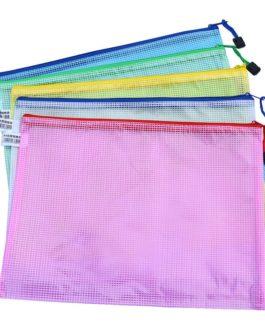 1 pcs Waterproof Plastic Zipper Paper File Folder Book Pencil Pen Case Bag File document bag  for office student supplies