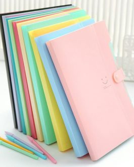 10 Color Carpetas Waterprof Office Plastic Folders Multi Pocket Organizer A4 File Expansion Document Folder Binder(gudetama)