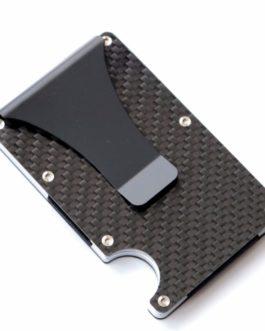2019 new design minimalist wallet rfid blocking for men carbon fiber wallet credit card holder
