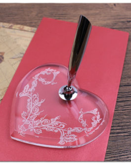 Free Shipping New Desktop Pen Holders For Wedding Party Feather Signature Stand