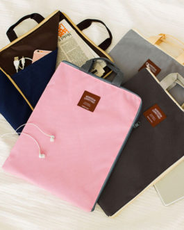 Large Canvas A4 File Folder Document Bag Business Briefcase Paper Storage Organizer Bag Stationery School Office Supplies