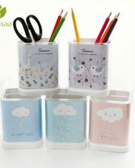 Mrosaa Creative Pen Holder Brush Pot Storage thicken acrylic Pen Pencil Pot stationery Holder Container Desk Organizer Gift DIY