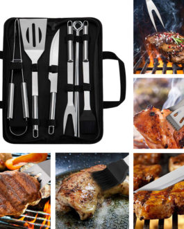 18Pcs Barbecue Grilling Tools BBQ Utensils Stainless Steel BBQ Tool Set Camping Outdoor Cooking Tools Barbecue Grill Accessories
